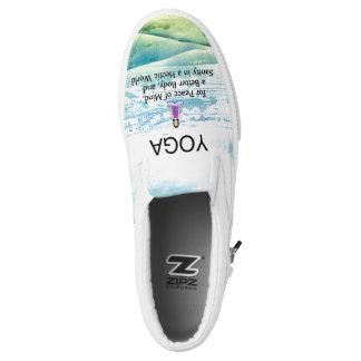 TOP Yoga Slogan Slip-On Sneakers