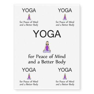 TOP Yoga Slogan Temporary Tattoos