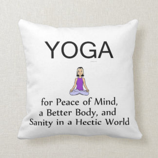 TOP Yoga Slogan Throw Pillow