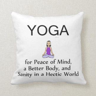 TOP Yoga Slogan Throw Pillow