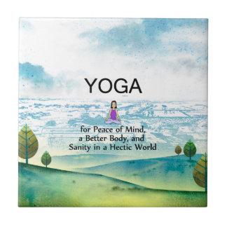 TOP Yoga Slogan Tile