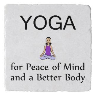 TOP Yoga Slogan Trivet