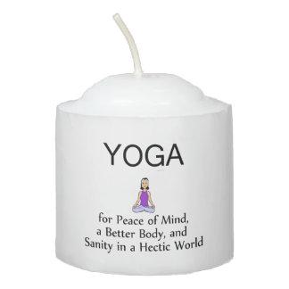 TOP Yoga Slogan Votive Candle