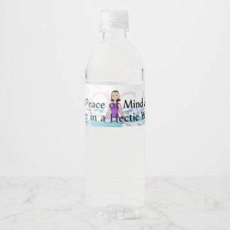 TOP Yoga Slogan Water Bottle Label