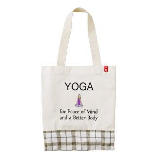 TOP Yoga Slogan Zazzle HEART Tote Bag
