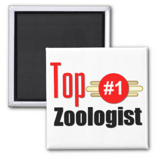 Top Zoologist 2 Inch Square Magnet