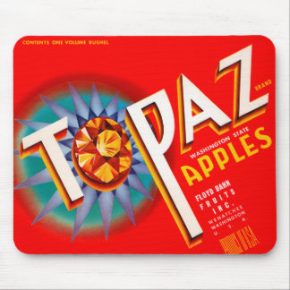 Topaz Apples Mouse Pad