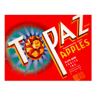 Topaz Apples Postcard