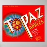 Topaz Apples Poster