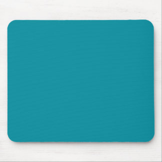 Topaz Blue Personalized Aqua Teal Color Background Mouse Pad