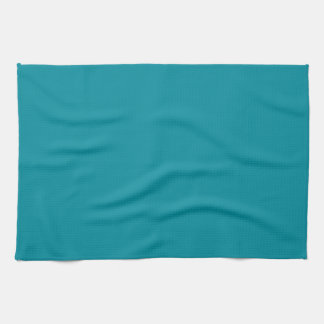 Topaz Blue Personalized Aqua Teal Color Background Towel