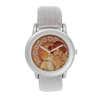 Topaz by Alphonse Mucha Wrist Watch