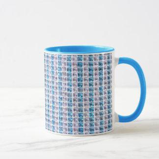Topaz Cyan Blue Rhinestones Style Mug