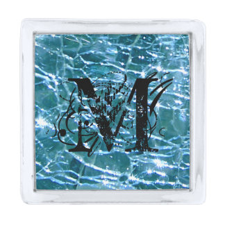 Topaz de cristal Crackled del azul de Birthstone Insignia Plateada