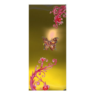 TOPAZ de la MARIPOSA violeta rosada roja brillant Anuncio Personalizado