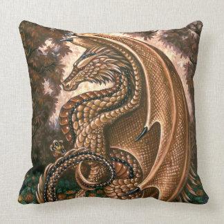 Topaz Dragon Grade A Cotton Throw Pillow