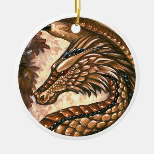 Topaz Dragon Ornament