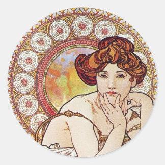 Topaz Goddess Classic Round Sticker