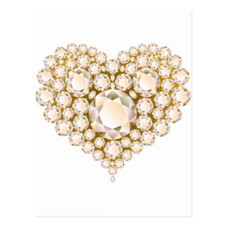 Topaz Heart Gems Postcard