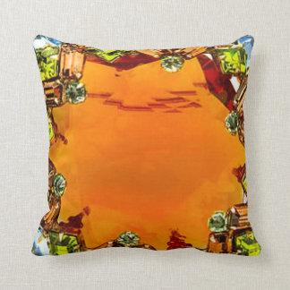 Topaz Rhinestones Sofa Bling Jewelry Throw Pillow
