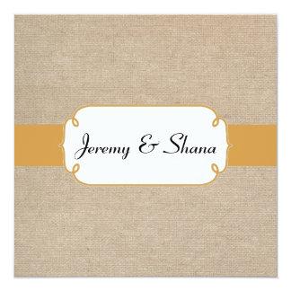 Topaz rústico e invitación beige del boda de la
