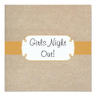 """Topaz rústico y noche beige de los chicas de la invitación 5.25"""" x 5.25"""""""