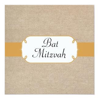 """Topaz y palo beige Mitzvah del vintage de la Invitación 5.25"""" X 5.25"""""""