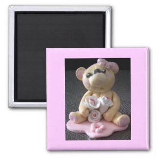 topcake teddy bear girl magnet