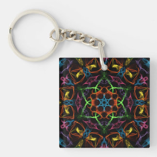 Tope Single-Sided Square Acrylic Keychain
