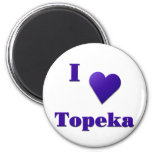 Topeka -- Azul de medianoche Iman De Nevera