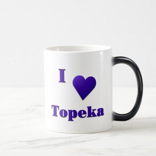 Topeka -- Azul de medianoche Taza De Café