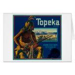 Topeka Brand Citrus Crate Label