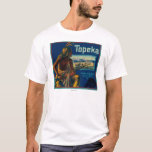 Topeka Brand Citrus Crate Label T-Shirt