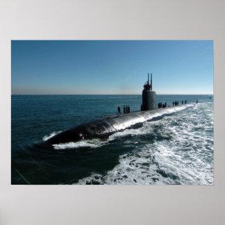 Topeka de USS (SSN 754) Póster
