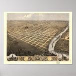 Topeka Kansas 1869 Panoramic Map Posters