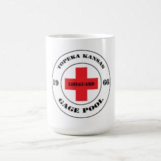 Topeka Kansas Gage Pool Lifeguard 1966 Classic White Coffee Mug