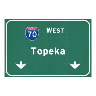 Topeka Kansas ks Interstate Highway Freeway : Photo Print