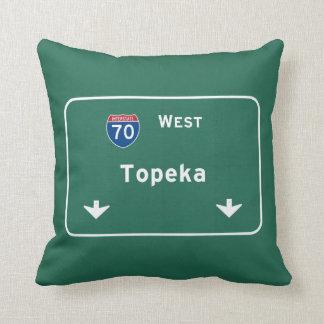 Topeka Kansas ks Interstate Highway Freeway : Throw Pillow