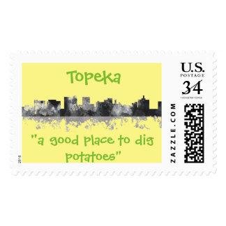 TOPEKA KANSAS SKYLINE POSTAGE