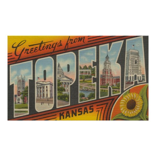 Topeka, KansasLarge Letter ScenesTopeka, KA 2 Print