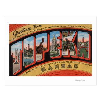 Topeka, letra ScenesTopeka, KA de KansasLarge Tarjeta Postal