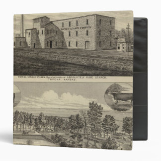 Topeka Starch Worksand Residence of DM Howard 3 Ring Binder