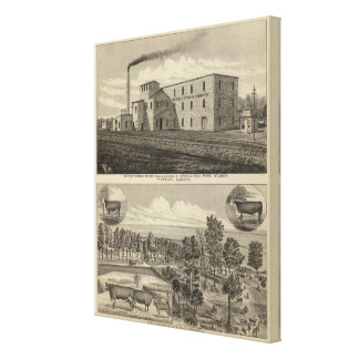 Topeka Starch Worksand Residence of DM Howard Canvas Print