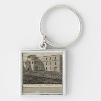 Topeka Starch Worksand Residence of DM Howard Keychain