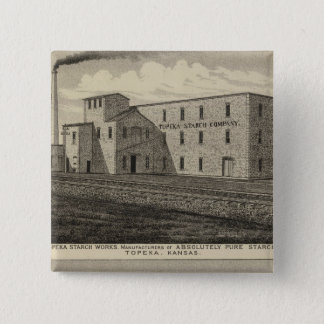 Topeka Starch Worksand Residence of DM Howard Pinback Button