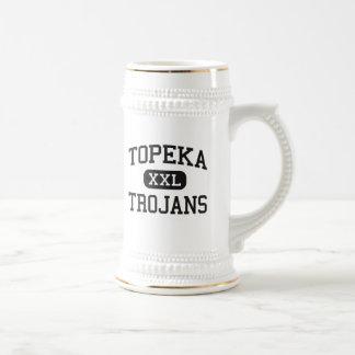 Topeka - Trojans - High School - Topeka Kansas 18 Oz Beer Stein
