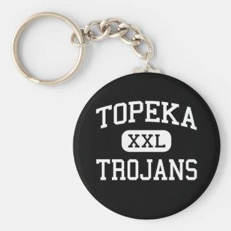 Topeka - Trojans - High School - Topeka Kansas Basic Round Button Keychain