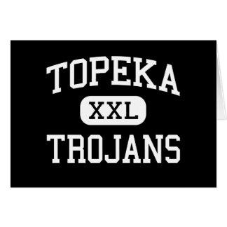 Topeka - Trojans - High School - Topeka Kansas Greeting Card