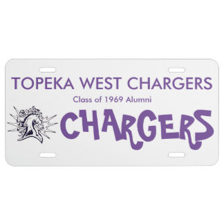 Topeka West HS license plate