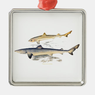 TOPER AND YOUNG SHARKS METAL ORNAMENT